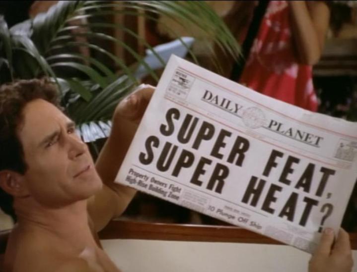 lois-et-clark-les-nouvelles-aventures-de-superman-lex-luthor-dans-son-bain-montrant-un-journal-du-daily-planet-parlant-de-superman