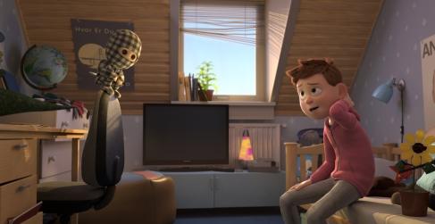 mon-ninja-et-moi-un-enfant-dans-sa-chambre-parle-à-un-ninja-en-poupée-de-chiffon