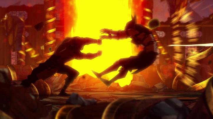 Mortal-kombat-legends-scorpion's-revenge-scorpion-portant-un-coup-sur-quan-chi